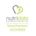 3 měsíční premiová verze WK na NutriData.cz