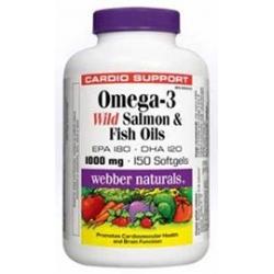 WN Omega-3 Lososový a rybí olej 150cps